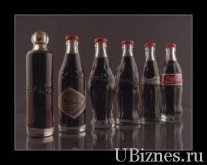 Эволюция бутылки с Coca Cola