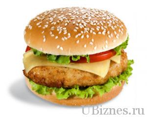 Фирменный гамбургер от МакДональдс.