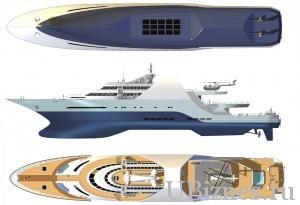 Эскизы самой дорогой яхты