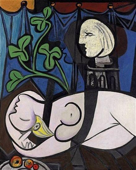 «Обнаженная на фоне бюста и зеленых листьев», Пабло Пикассо, 107 млн. долларов