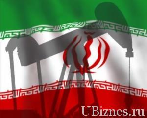 Тень нефтяной скважины на флаге Ирана
