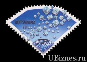 Почтовая марка Бостваны с алмазами