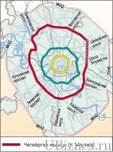 Четвертое транспортное кольцо, Москва.