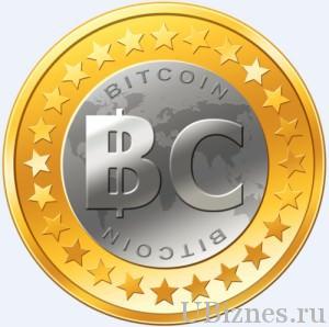 Изображение монеты биткоина