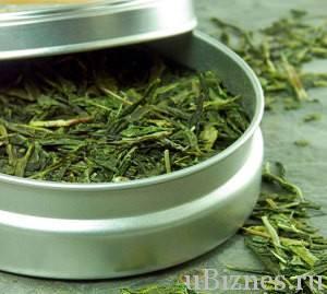 Железная коробка с зеленым чаем Ан-Си