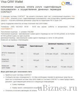 Через денежные переводы КОНТАКТ