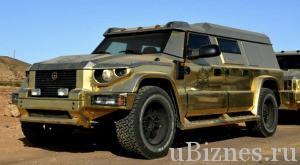 Золотой джип сделанный в Латвии