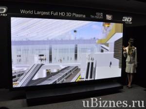 Самый большой телевизор в мире от Панасоник