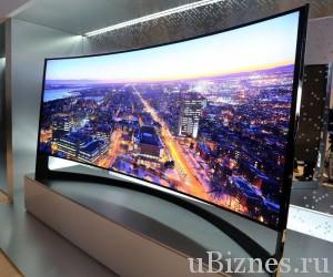Огромный изогнутый телевизор с диагональю 105 дюймов