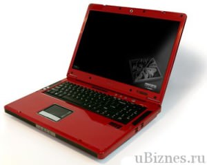 Красный ноутбук VoodooEnvy 171