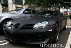 Mercedes Benz SLS в черном цвете